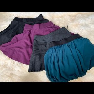 Lot of 4 skirts